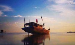 Pesona Senja di Taman Laut Prapat Tunggal Bengkalis